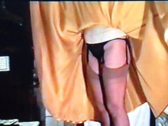 gold satin skirt wife dominated by pervy husband 4