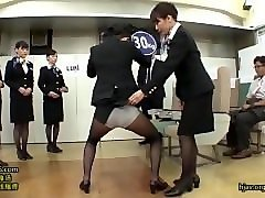just fun: japanese stewardess training 1/15