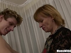 Cock Hungry Blonde Mama Fucked By Young Teen