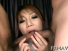 japanese babe gives tit job and gets nipples cummed on