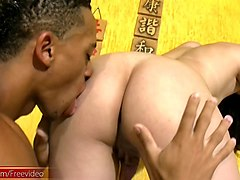 exotic latin asian tranny gets her anal licked and drilled