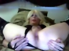Horny Homemade Shemale clip with Stockings, Solo scenes